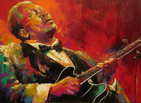 "Read the inspiration behind this painting ""The Most Admired Man"", #blues #bbking B.B.King by artist Malcolm Farley"