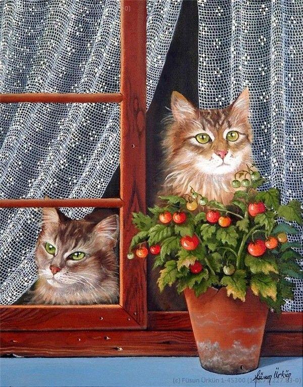Turkish painter Fusun Urkun
