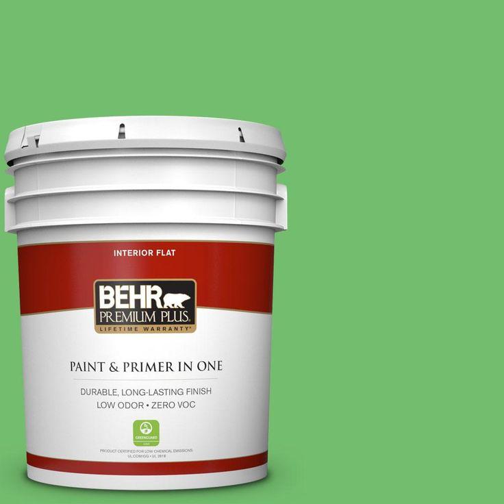 BEHR Premium Plus 5 gal. #440B-5 Dublin Zero VOC Flat Interior Paint