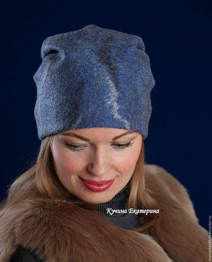 Купить или заказать Шапка валяная..женская..трансформер...двусторонняя в интернет-магазине на Ярмарке Мастеров. Шапочка-трансформер из нежнейшей мериносовой натуральной-неокрашенной шерсти и натурального шёлка ручного крашения выполнена в тонах глубокого-тёмно-синего моря. Я очень люблю этот цвет-и почти все мои шапочки в таких тонах)) Вы покупаете одну шапочку-а получаете две,т.к. эта шапочка двусторонняя и носить её можно на обе стороны)) Очень комфортна и легко сочетается с любым стилем…