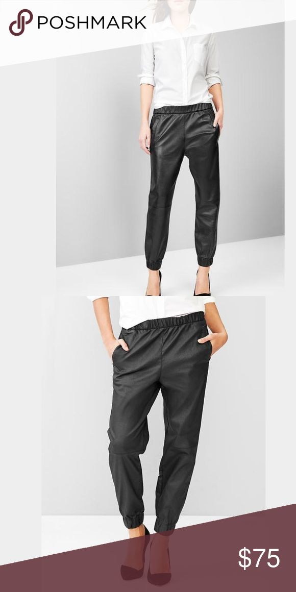 Gap leather jogger pants 100% leather! Great condition and super edgy chic. GAP Pants Track Pants & Joggers