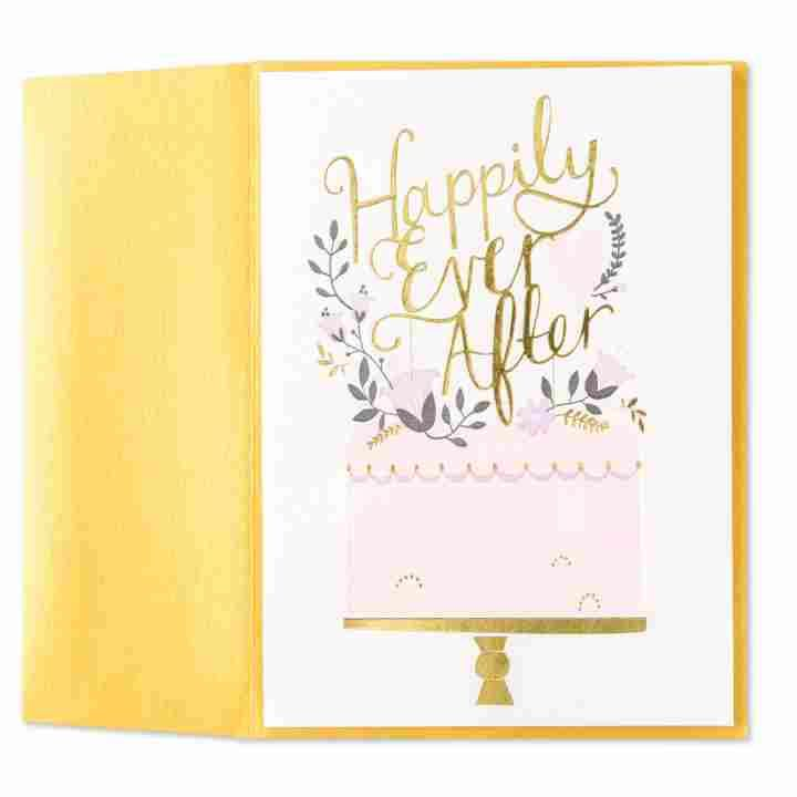 Front view of wedding card