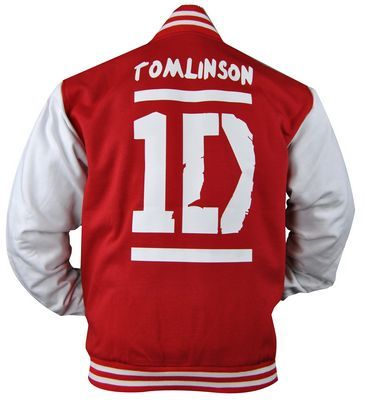One Direction baseball jacket given to the boys in Sydney by The Justice Crew as a thank you for having them as the support act on One Direction's first Australian tour. This is Louis Tomlinson's jacket.
