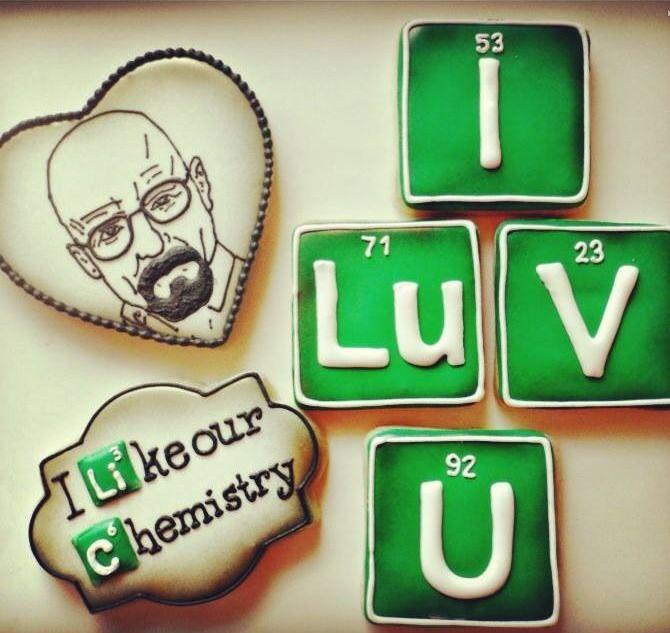 Valentine's Day Breaking Bad cookies by Sweet Tweets
