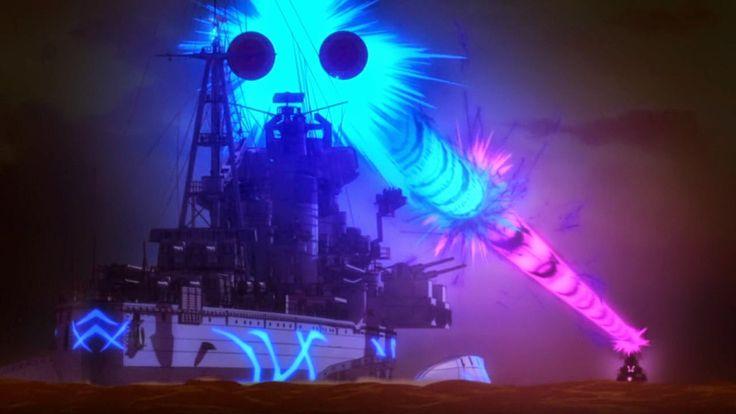 Zaawansowane okręty wojenne Floty Mgły podczas walki