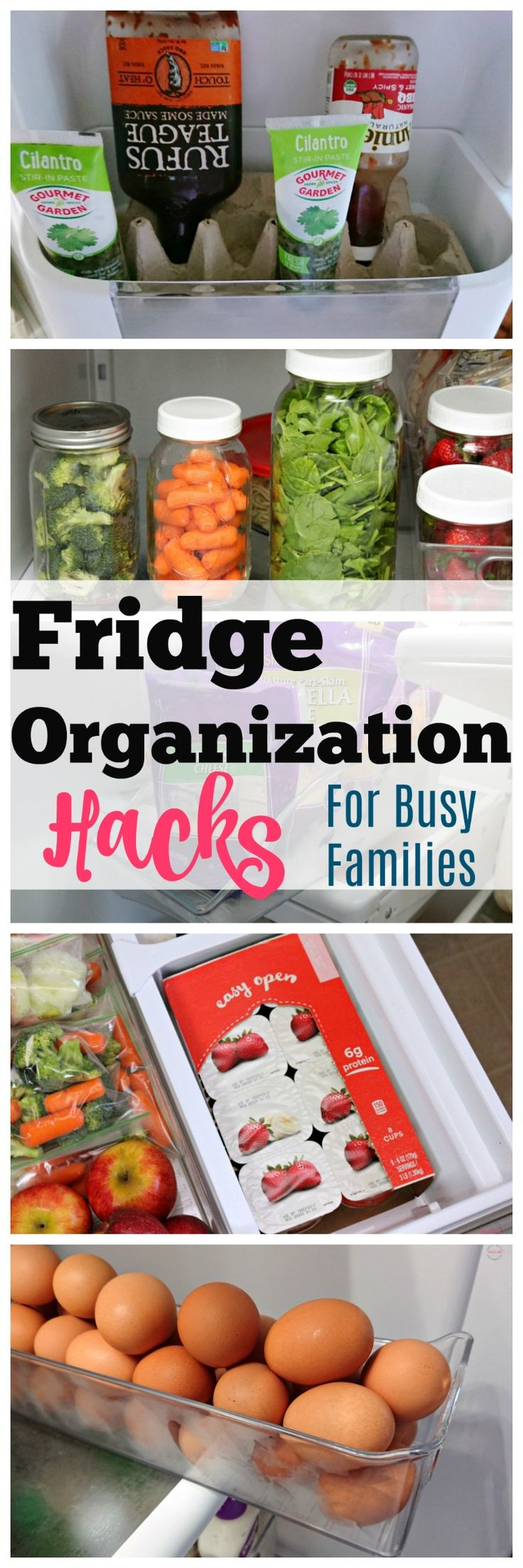 Easy fridge makeover tips! Fridge organization for busy families. Fridge hacks you need to know.