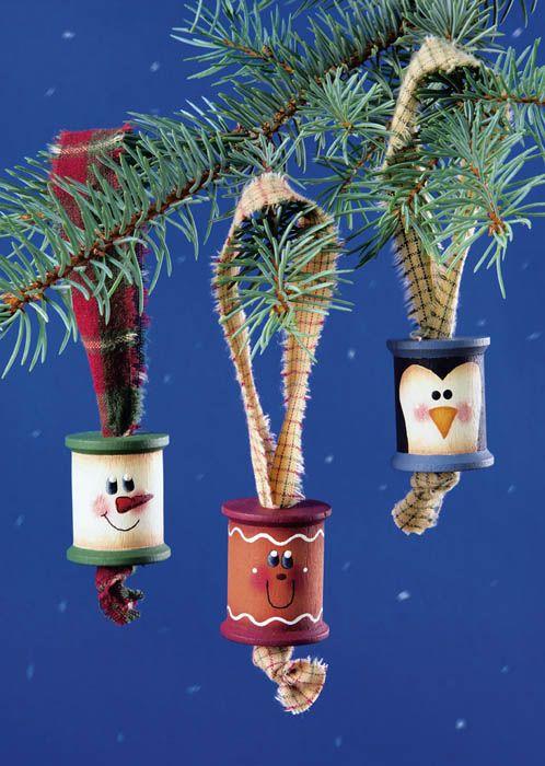 Wooden Spool Ornaments