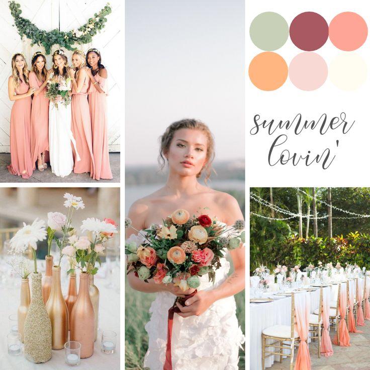 5 Gorgeous Trendy Wedding Themes For 2020: Cantaloupe Wedding, Pantone Cantaloupe Wedding Ideas