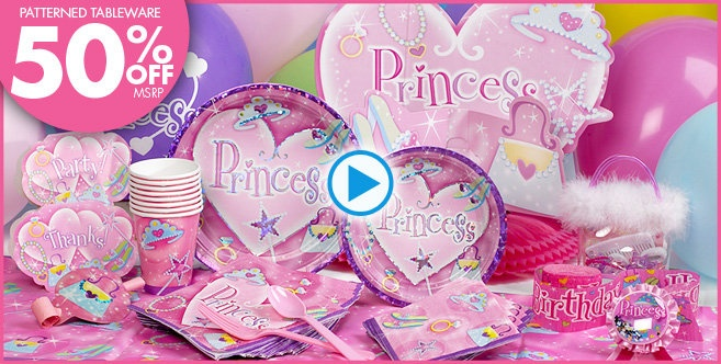 Princess Party Supplies - Princess Birthday
