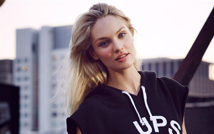 Download wallpapers Candice Swanepoel, fashion model, blonde, photoshoot, South African supermodel