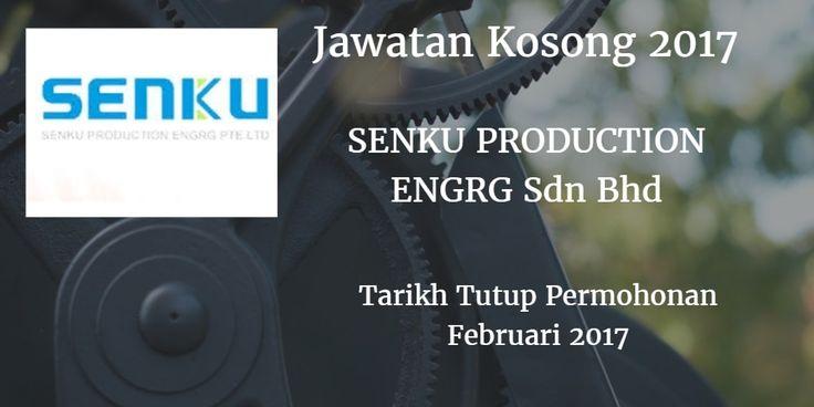 Jawatan Kosong SENKU PRODUCTION ENGRG Sdn Bhd Februari 2017  SENKU PRODUCTION ENGRG Sdn Bhd mencari calon-calon yang sesuai untuk mengisi kekosongan jawatan SENKU PRODUCTION ENGRG Sdn Bhd terkini 2017.  Jawatan Kosong SENKU PRODUCTION ENGRG Sdn Bhd Februari 2017  Warganegara Malaysia yang berminat bekerja di SENKU PRODUCTION ENGRG Sdn Bhd dan berkelayakan dipelawa untuk memohon sekarang juga. Jawatan Kosong SENKU PRODUCTION ENGRG Sdn Bhd Terkini Februari 2017 : Operator Pengeluaran Boleh…