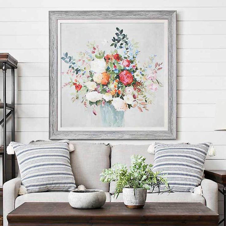 Fresh spring bouquet framed art print kirklands wall