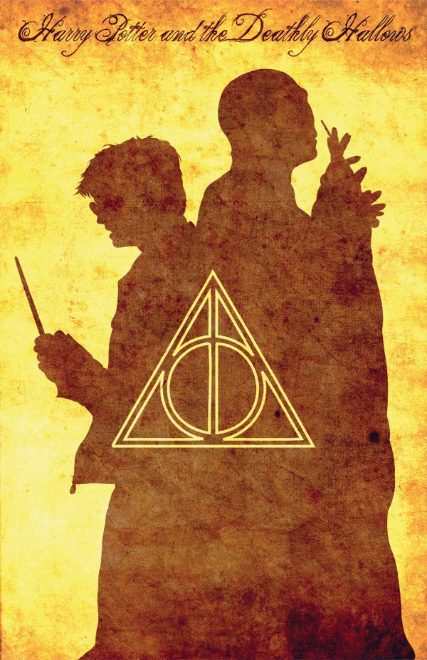 Harry Potter and the Deathly Hallows print by Paul Slayton, via Behance