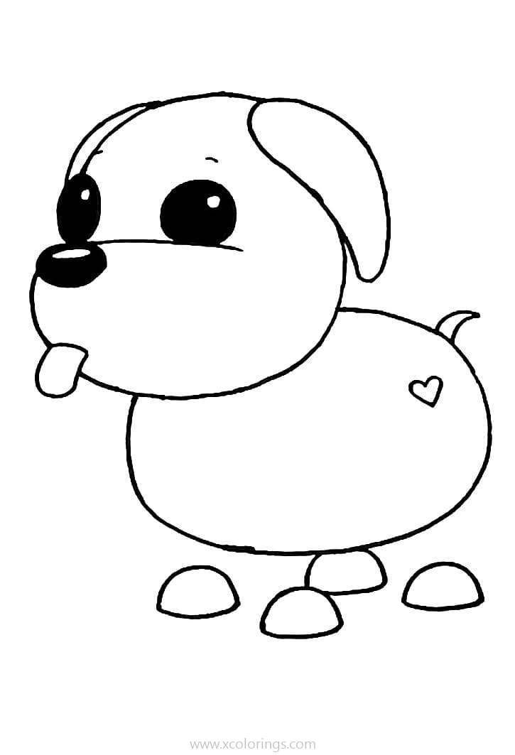 Roblox Adopt Me Coloring Pages Puppy Coloring Pages Pets Drawing Roblox