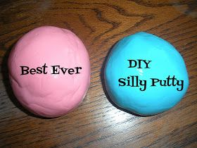 Best ever DIY Silly Putty - not just for kids, great fun for adults too! nice to squeeze and pop bubbles while relaxing.