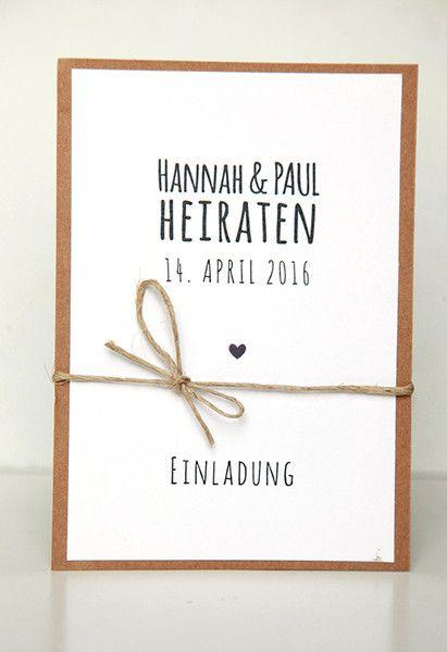 Einladungen Zur Hochzeit   DIY Kit   Hu0026P
