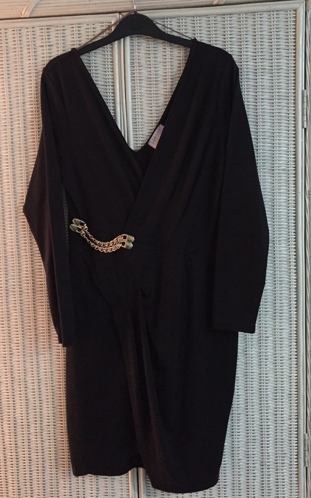 Jessica Wright Black Wrap over Dress Size 14 Excellent Condition only worn once    eBay
