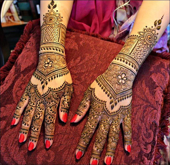 Rajasthani Bridal Mehndi Designs For Full Hands - Ornamental Design