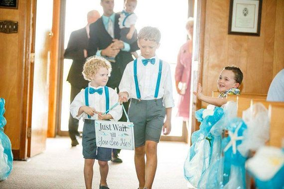 Ring Bearer Signs Wedding Signs Rustic sign by SticksandStonesPEI