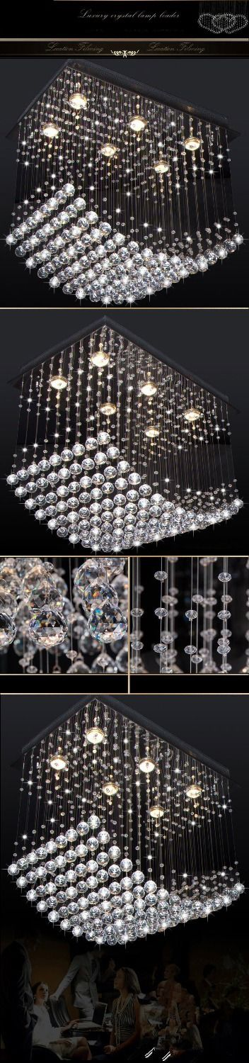 curtain wave contemporary crystal lights
