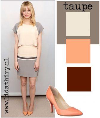 Taupe is een kleur die iedereen staat en hij combineert moeiteloos met heel veel kleuren