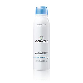 Activelle Anti-perspirant 24h Deodorant Cotton Dry - Activelle - Body Care - Shop for Oriflame Sweden - Oriflame cosmetics –UK & USA - Oriflame Activelle Anti-perspirant 24h Deodorant Cotton Dry 25280 |orinet/body care