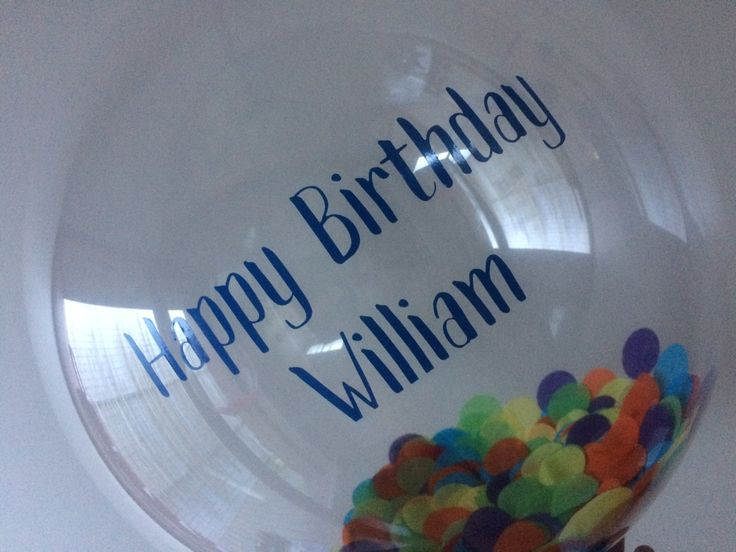 Personalised Happy Birthday large confetti  bubble balloon with tassels. Parties