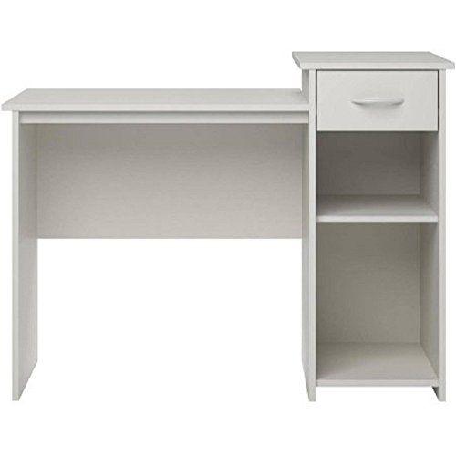 Mainstays Student Desk White Finish - Home Office Bedroom Furniture Indoor Desk - Easy Glide Accessory Drawer #Mainstays #Student #Desk #White #Finish #Home #Office #Bedroom #Furniture #Indoor #Easy #Glide #Accessory #Drawer