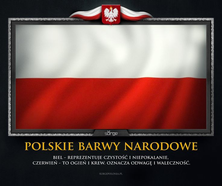 Polish flag. Great meaning of colours.