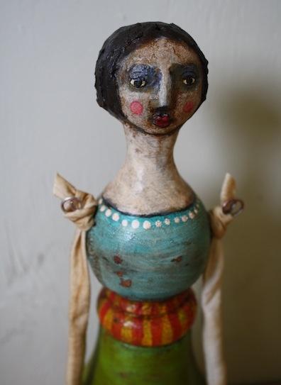 3 Grungy Folk Art Dolls   Jane DesRosier