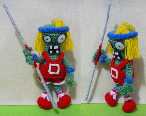 Crochet Pole - Vaulting Zombiet Amigurumi - Finish Doll