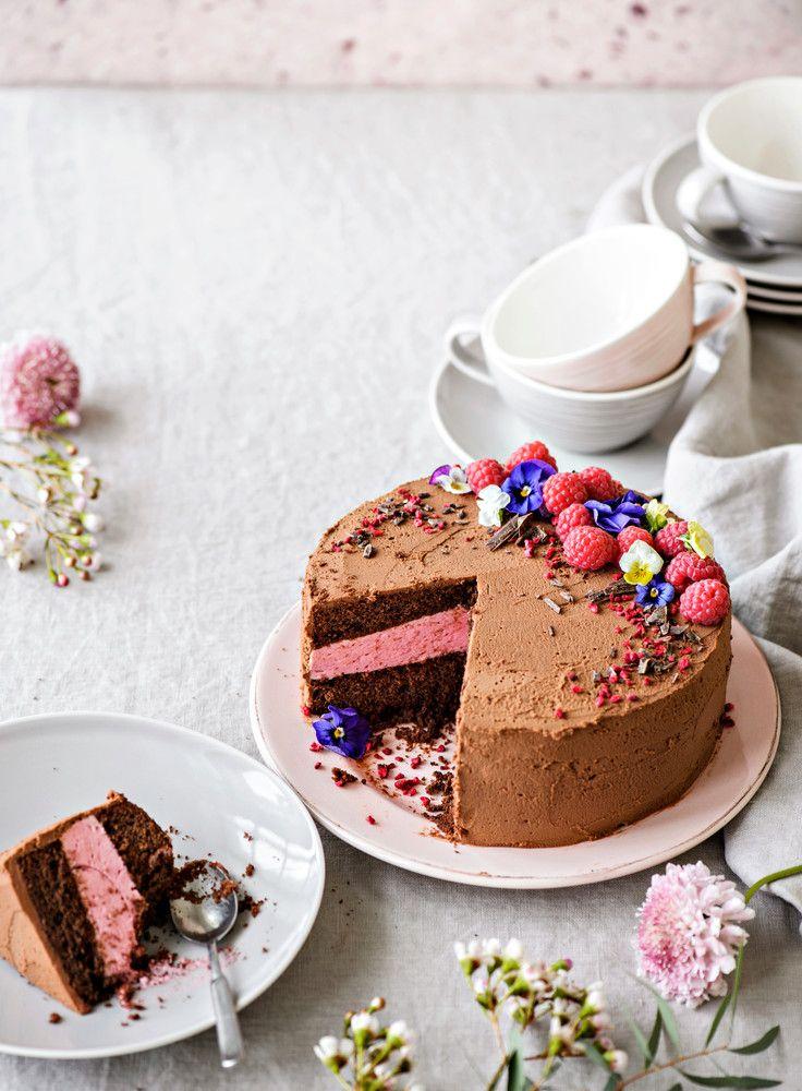Vadelma-suklaakakku   K-Ruoka
