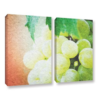 """Red Barrel Studio Planet of The Grapes 3 Piece Framed Graphic Art Set Size: 36"""" H x 54"""" W x 2"""" D"""