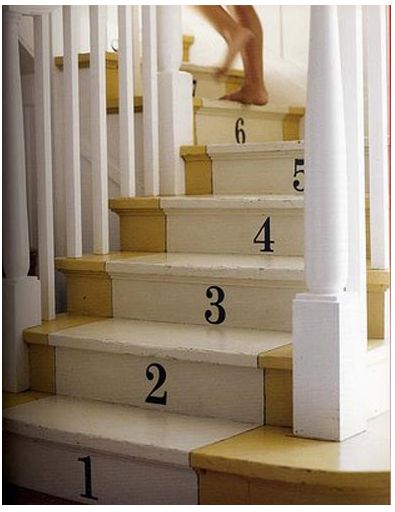 remember when you were little and tried to count how many stairs there was... but ended up with a different # every time :)
