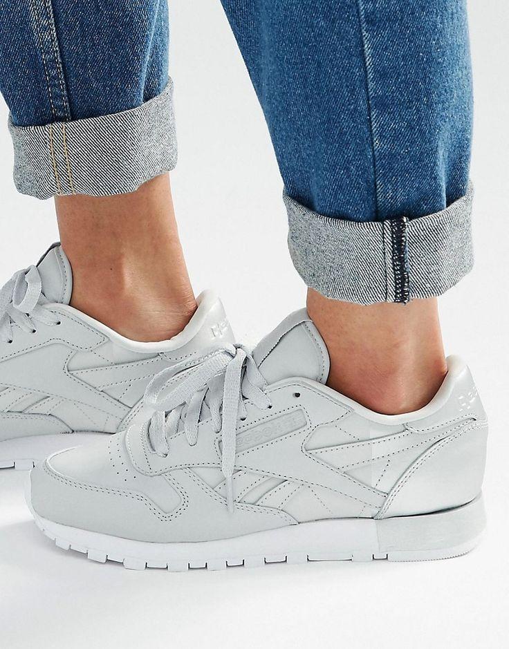 Image 1 of Reebok Classic Sneakers With Metallic Heel Detal