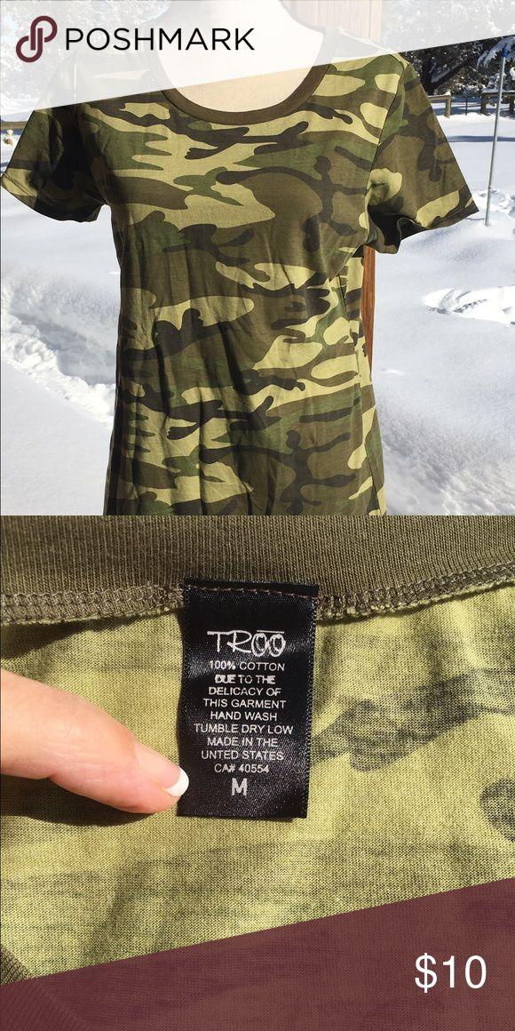 Troo women's camo shirt size M Great camo shirt in a size M. 🌺 troo Tops Tees - Short Sleeve
