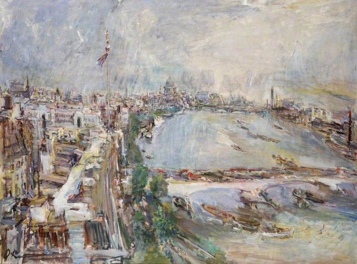View of the Thames 1959 Kokoschka Oil on canvas ARTUK
