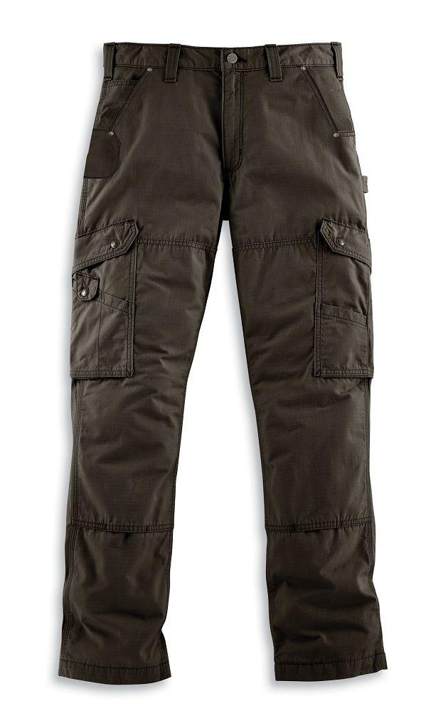 Carhartt Men's Cotton Ripstop Pant B342 Vermontgear.com. Best pants ever size 36x32 color black/tan/green