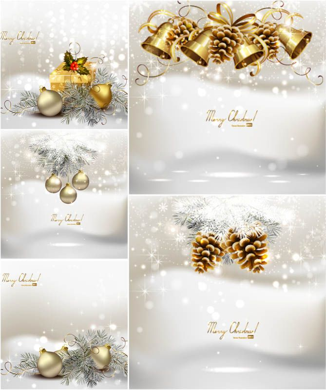 White Christmas backgrounds vector