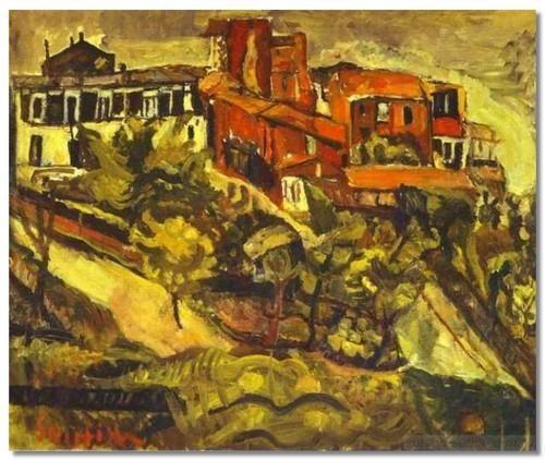 Х.Сутин. Красные дома. 1917