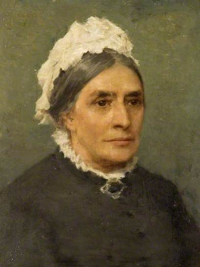 Henry Scott Tuke, Elizabeth Gibson, née Tuke, c. 1880, Oil on board, Collection: Saffron Walden Town Council