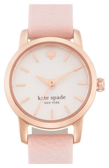 kate spade new york 'tiny metro' leather strap watch, 20mm available at #Nordstrom