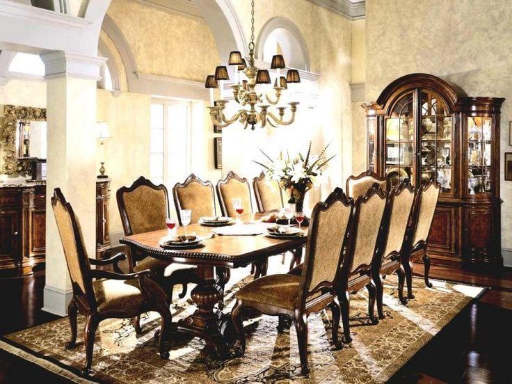 Dining Room Victorian Dining Set Chandelier Plate Crystal Glass Flower Vase  Cream Pattern Carpet Curio Cabinet