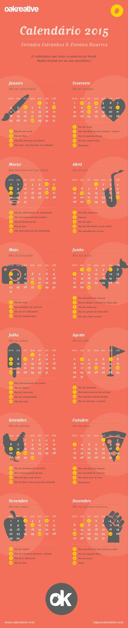 Calendário de Datas Comemorativas para as Redes Sociais