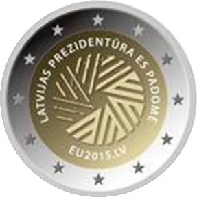 "Latvian 2 euro commemorative coin ""Presidency of the Council of the European Union 2015"""