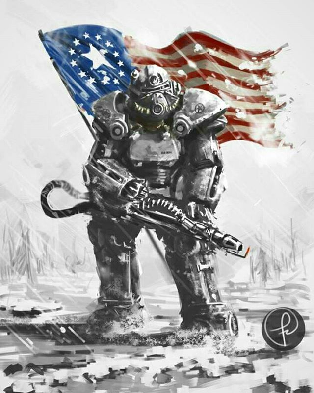 Some of the most badass Fallout art I've seen in a while ...