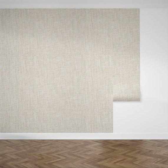 Removable Wallpaper Peel And Stick Wallpaper Grasscloth Tan Natural Woven Jute Sisal Self Adhesive In 2020 Peel And Stick Wallpaper Grasscloth Self Adhesive Wallpaper
