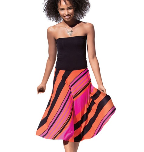 mark. change my mind striped convertible dress.  1 Dress, 3 looks! Wear it 3 different ways.