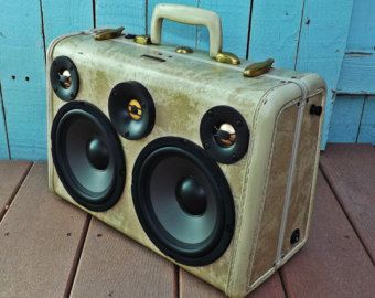 SOLD Vintage Trumpet Case Boombox Stereo MP3 Player by HiFiLuggage