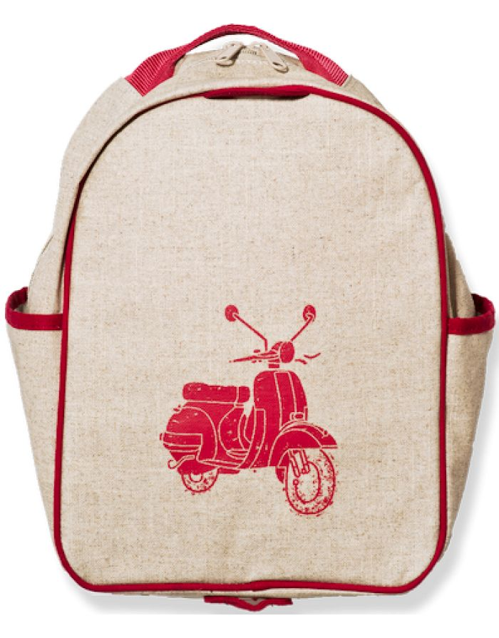 So Young Toddler Backpack - Red Scooter http://pumpkinpiekids.com/collections/backpacks-lunch-gear/products/toddler-backpack-scooter